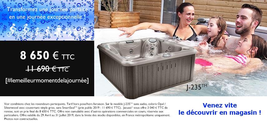 Promotiion spa JACUZZI J235 chez Aquaconcept Gouesnou