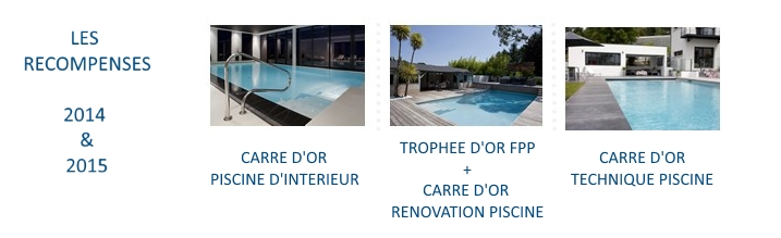 Les récompenses Aquaconcept 2014 et 2015 pour les piscines