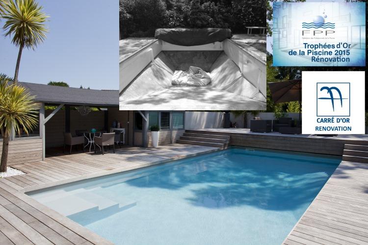 Dépaysement et chaleur pour cette piscine rénovée